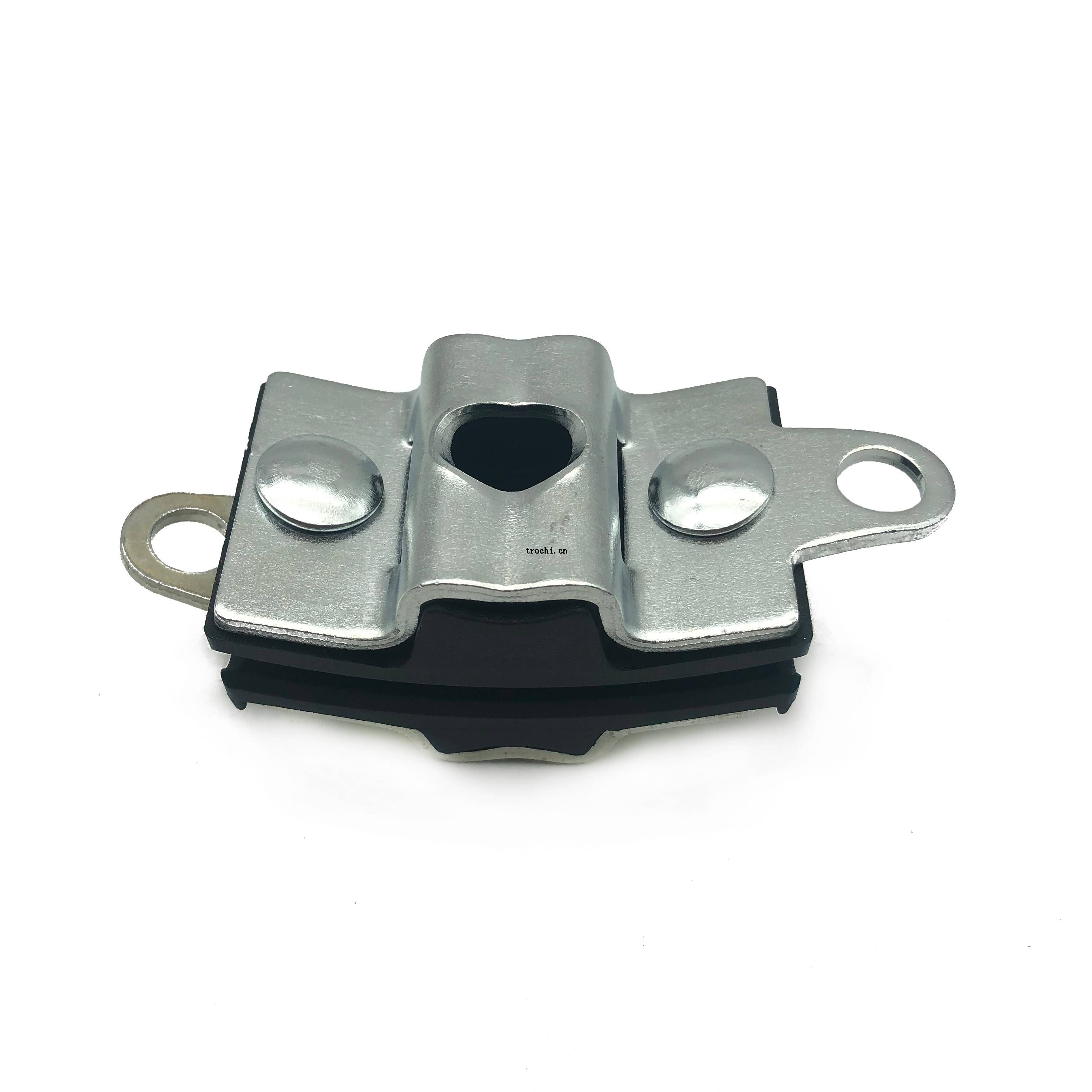 curved suspension clamp for figure-8 fiber optic cable