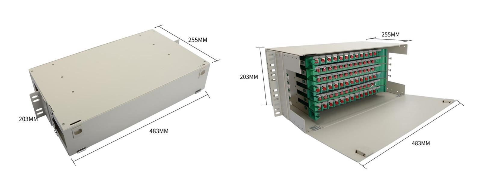 Hot sale 12/24/48/72/96/144 Port ODF SC/FC/LC/ST 19inch rack mount fiber optical distribution frame