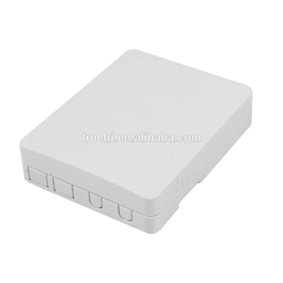 Indoor wall mouted 4 core fiber wall outlet optical socket FTTH desktop